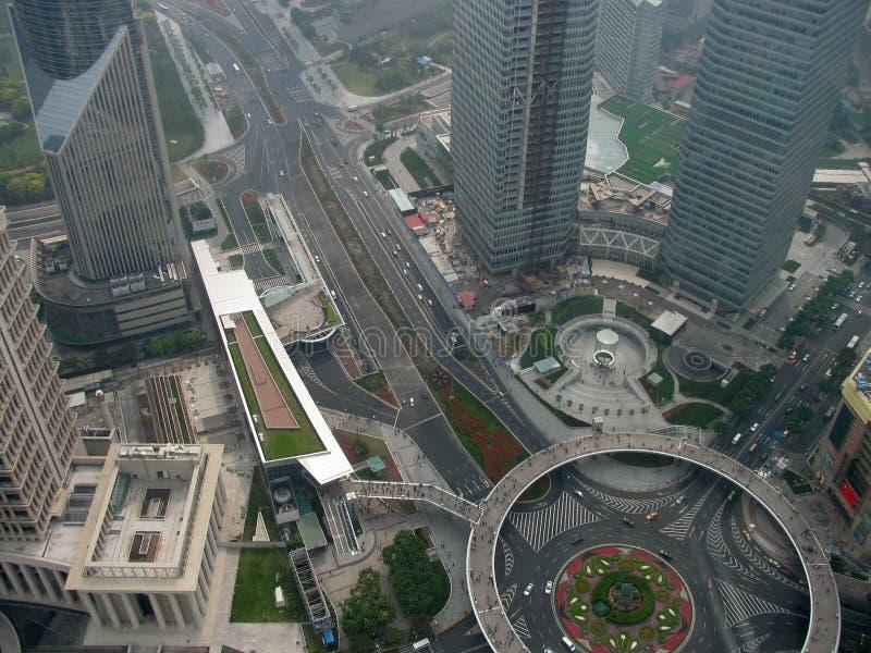 Vue supérieure est de Changhaï photographie stock