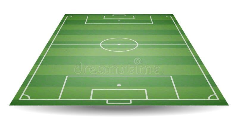 Vue supérieure et arrière de terrain de football Terrain de football texturisé dans la perspective Backgro vert de terrain de jeu illustration stock