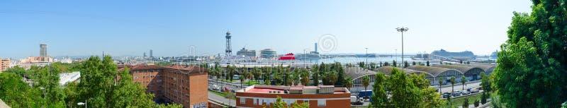 Vue supérieure panoramique de Barcelone, Espagne image stock