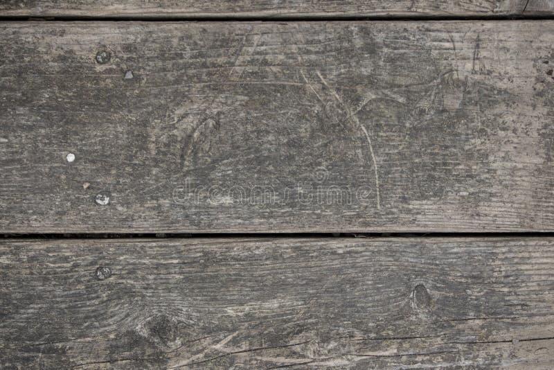 Vue supérieure sur le fond en bois de table image libre de droits