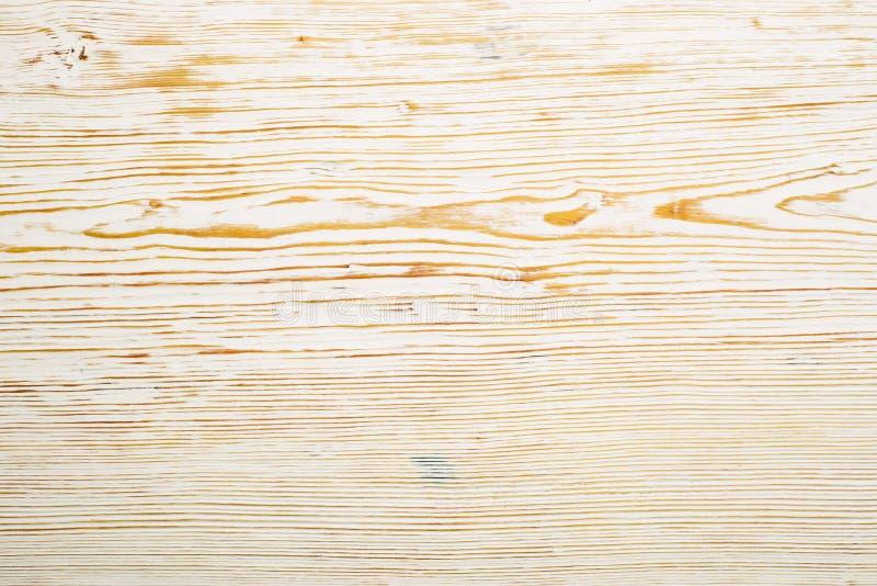 Vue sup?rieure sur la texture en bois balay?e blanche photographie stock