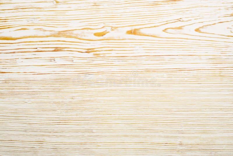 Vue sup?rieure sur la texture en bois balay?e blanche photo stock