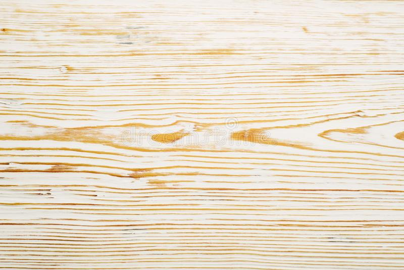 Vue sup?rieure sur la texture en bois balay?e blanche photos stock