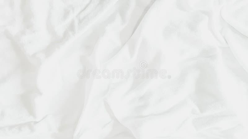 Vue sup?rieure - textures et mod?les abstraits de fond de tissu de feuille de literie avec la lumi?re du soleil douce dans la cha illustration de vecteur