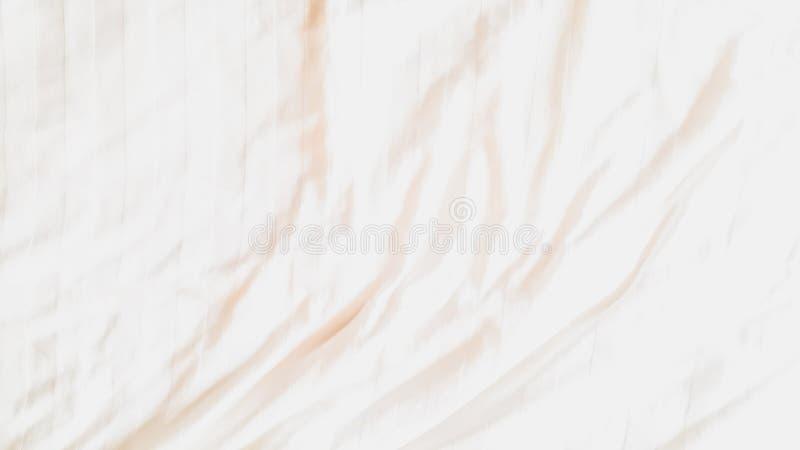 Vue sup?rieure - textures et mod?les abstraits de fond de tissu de feuille de literie avec la lumi?re du soleil douce dans la cha illustration stock