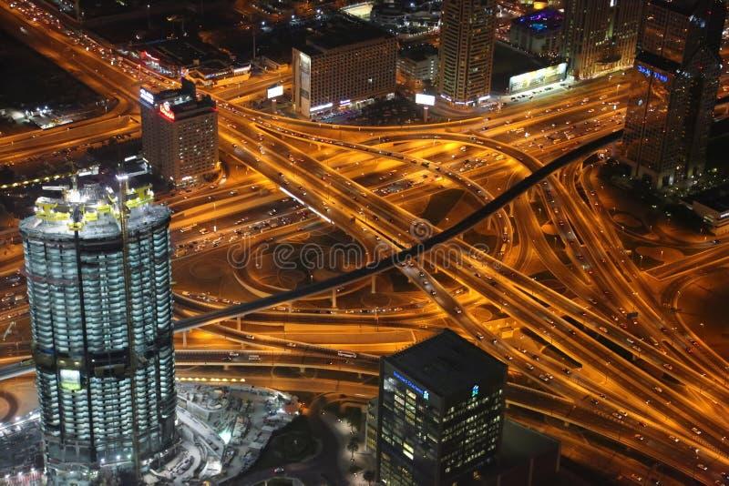 Vue sur égaliser le centre ville de Dubaï, Emirats Arabes Unis photo stock