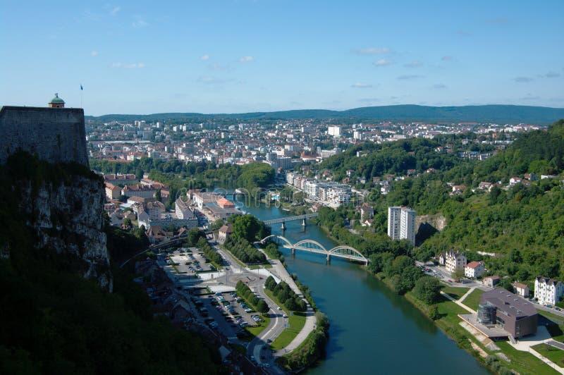 Vue sur Besançon image stock