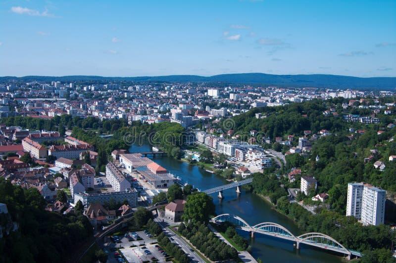 Vue sur Besançon photo stock