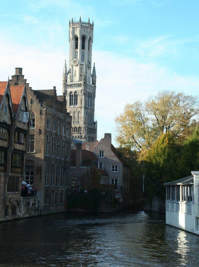 Vue sur Bruges images stock