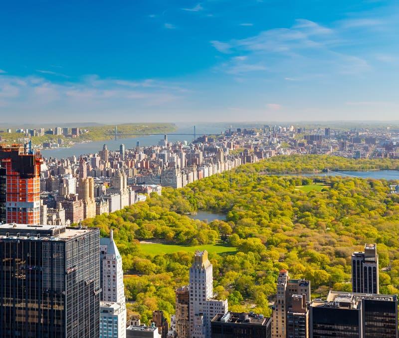 Vue sur Central Park photos stock