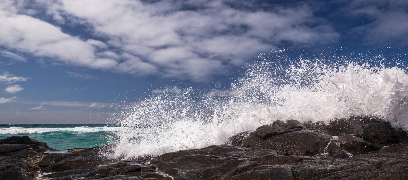 Vue sur Champagne Pools sur Fraser Island, Australie images libres de droits