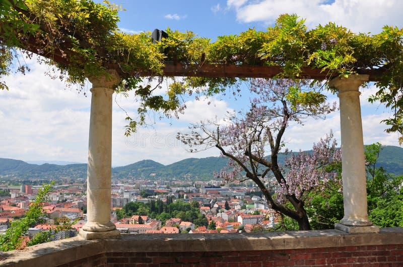 Vue sur Graz, Autriche image libre de droits