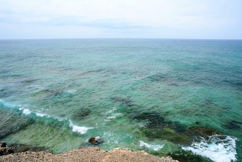 Vue sur l'océan Atlantique de Punta Jandia, Fuerteventura images libres de droits