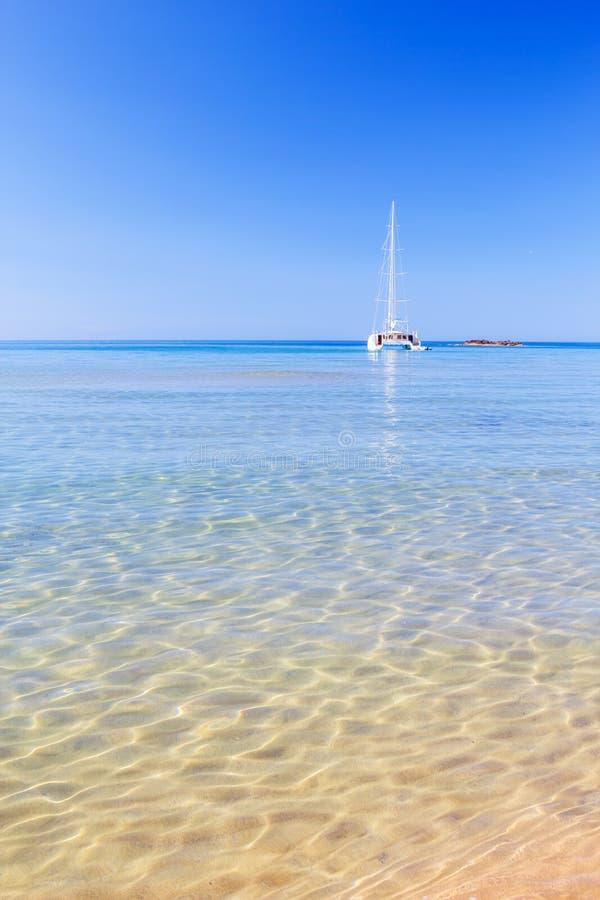 Vue sur la mer Méditerranée photos libres de droits