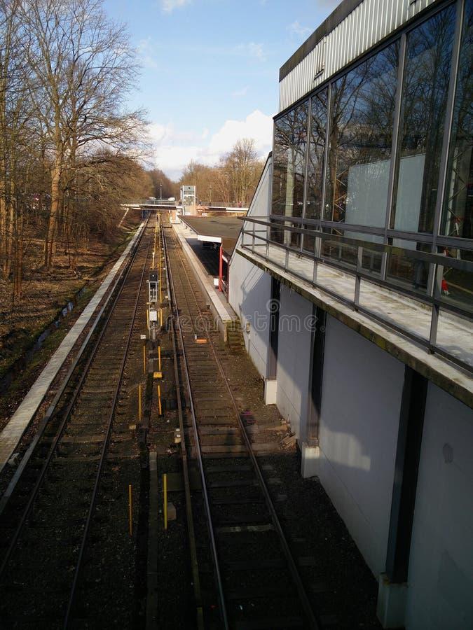 Vue sur la station de métro image libre de droits