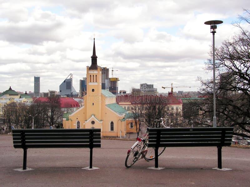 Download Vue sur la ville photo stock. Image du ciel, haut, église - 742094