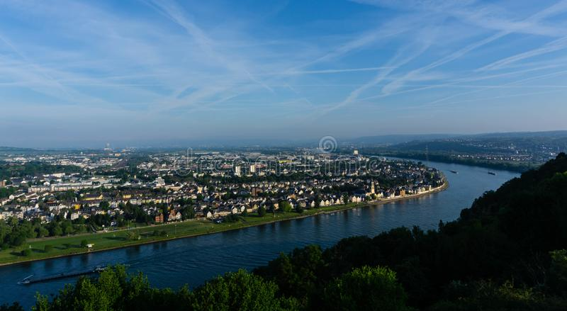 Vue sur la ville de Koblenz en Allemagne photographie stock