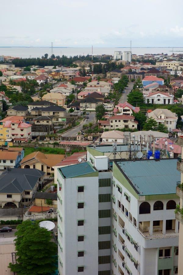 Vue sur Lagos image libre de droits