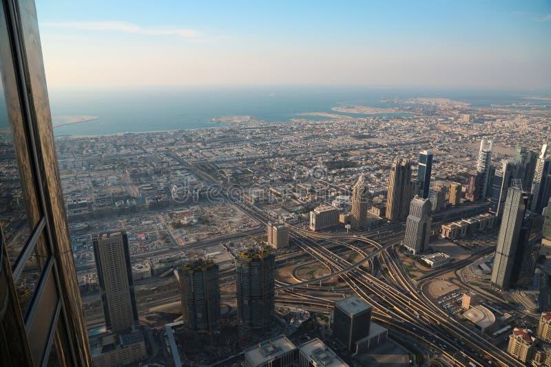 Vue sur le centre ville de Dubaï, Emirats Arabes Unis image stock