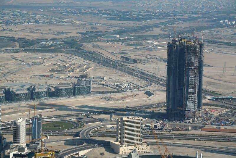 Vue sur le centre ville de Dubaï, Emirats Arabes Unis photographie stock