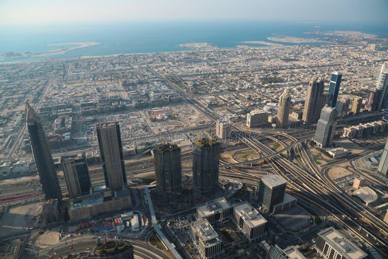 Vue sur le centre ville de Dubaï, Emirats Arabes Unis photos libres de droits