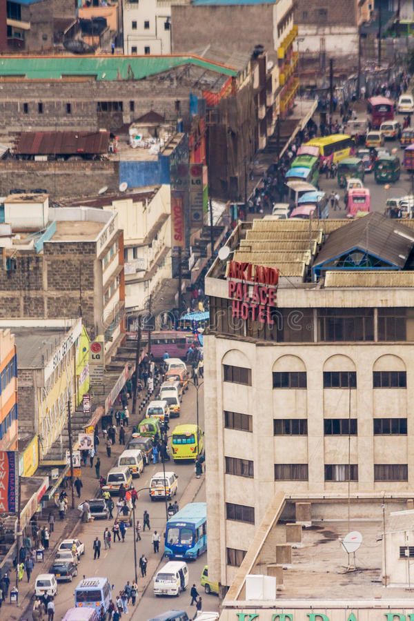Vue sur le district des affaires central de Nairobi image stock