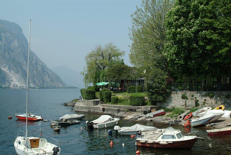 Vue sur le lac Como, Italie images stock