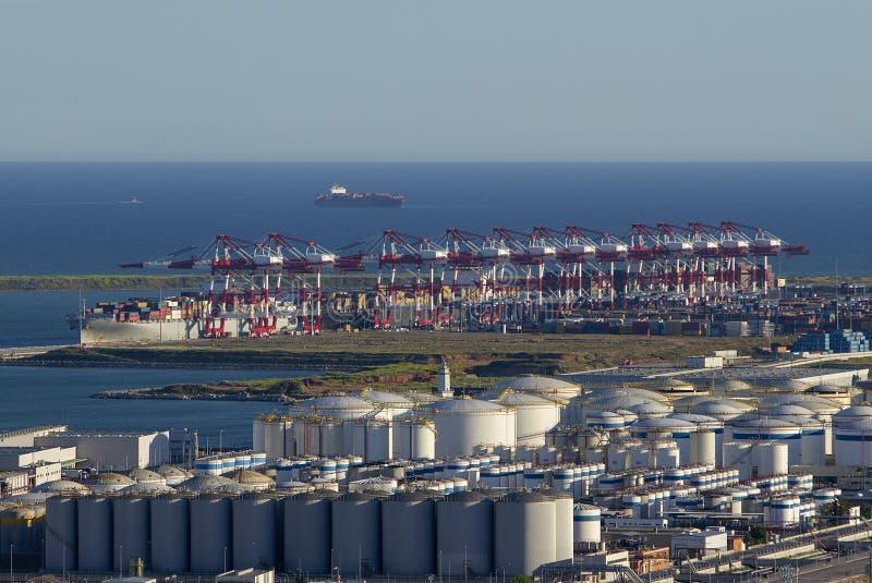 Vue sur le port de Barcelone images libres de droits
