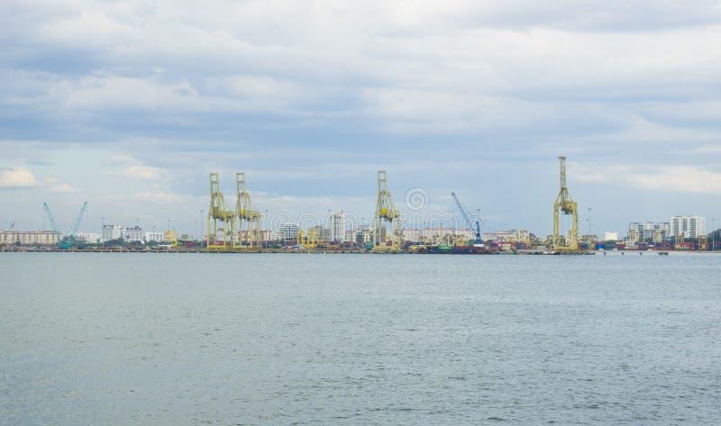 Vue sur le port de Penang à Butterworth, Malaisie image stock