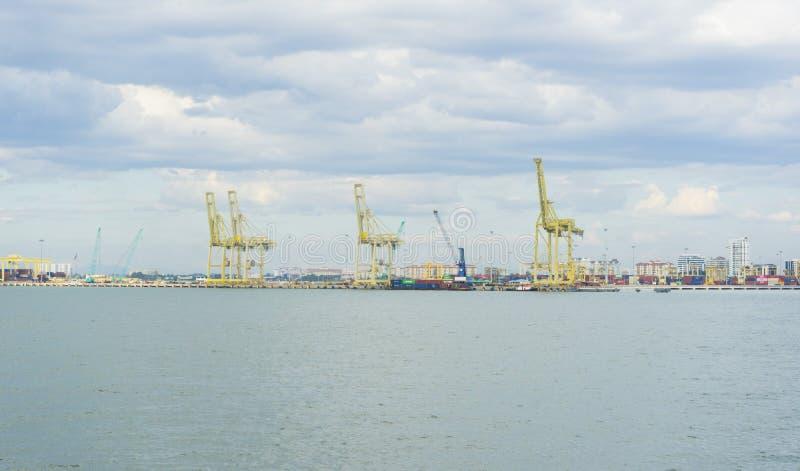 Vue sur le port de Penang à Butterworth, Malaisie images libres de droits