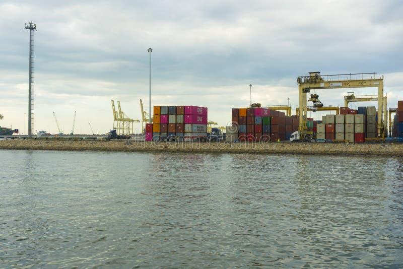 Vue sur le port de Penang à Butterworth, Malaisie photos libres de droits