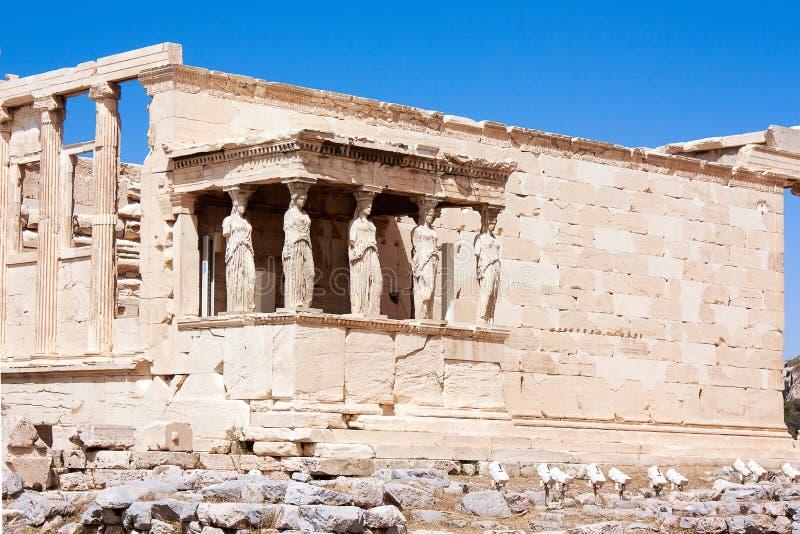 Vue sur le temple d'Athena Nike Athens dans l'Acropole Athene, Grèce - 20 04 2016 image libre de droits