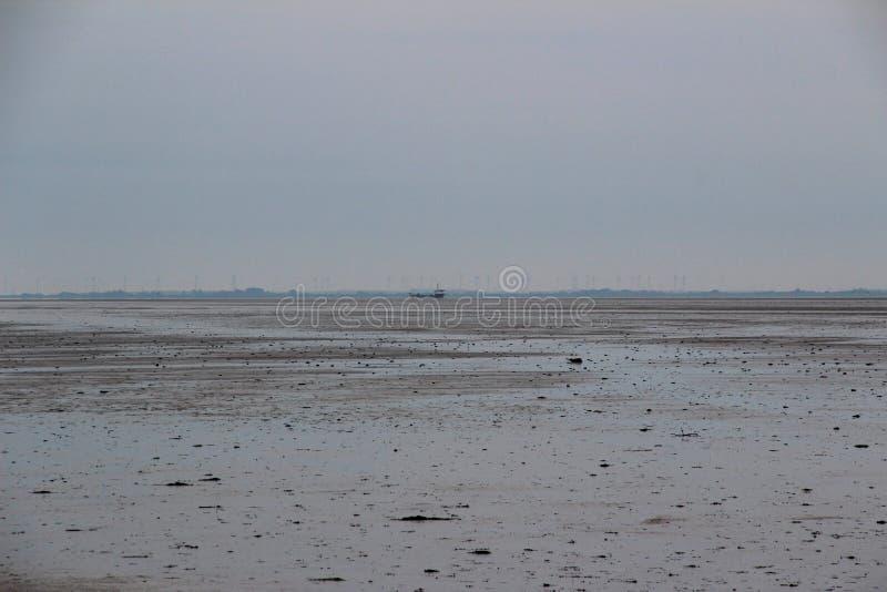 Vue sur le watt au juist du nord Allemagne d'île de mer photos stock