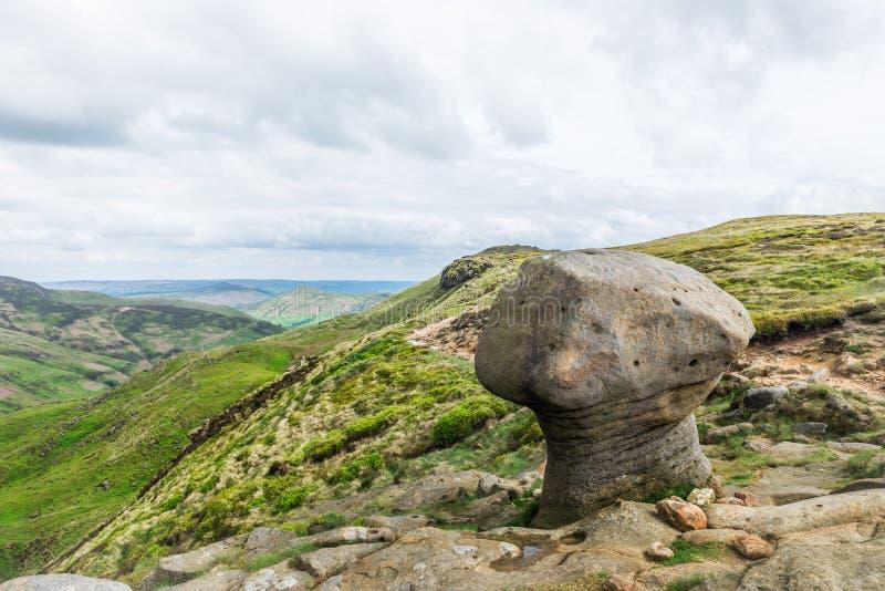 Vue sur les collines près d'Edale, parc national de secteur maximal, R-U images libres de droits