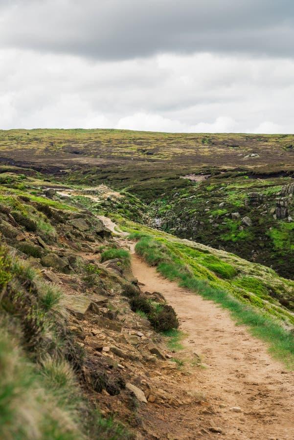 Vue sur les collines près d'Edale, parc national de secteur maximal, R-U photographie stock libre de droits