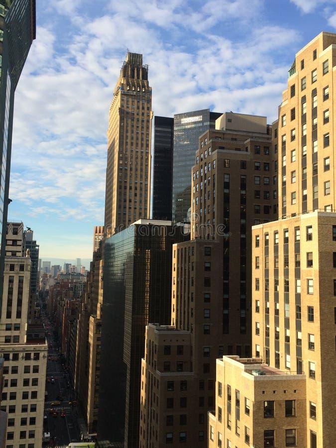 Vue sur les rues de New York photos libres de droits