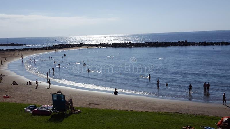 Vue sur Playa Amériques - Ténérife - l'Espagne images stock