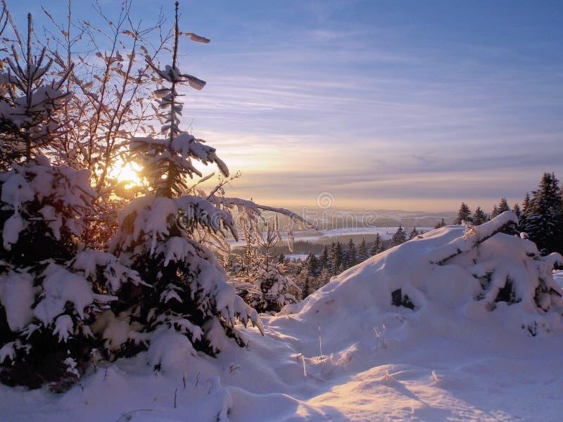 Vue sur un winterland photos libres de droits