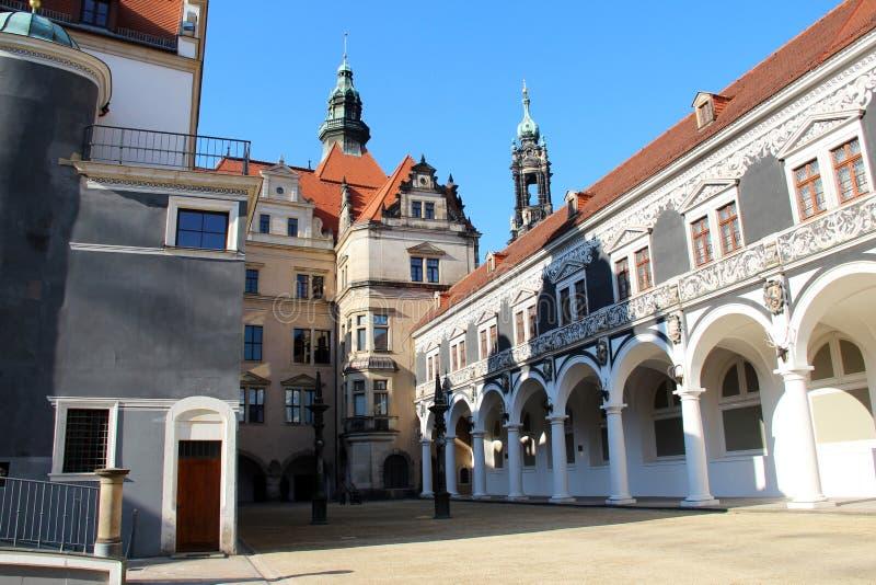 Vue sur une structure établie historique à Dresde Saxe Allemagne photos libres de droits