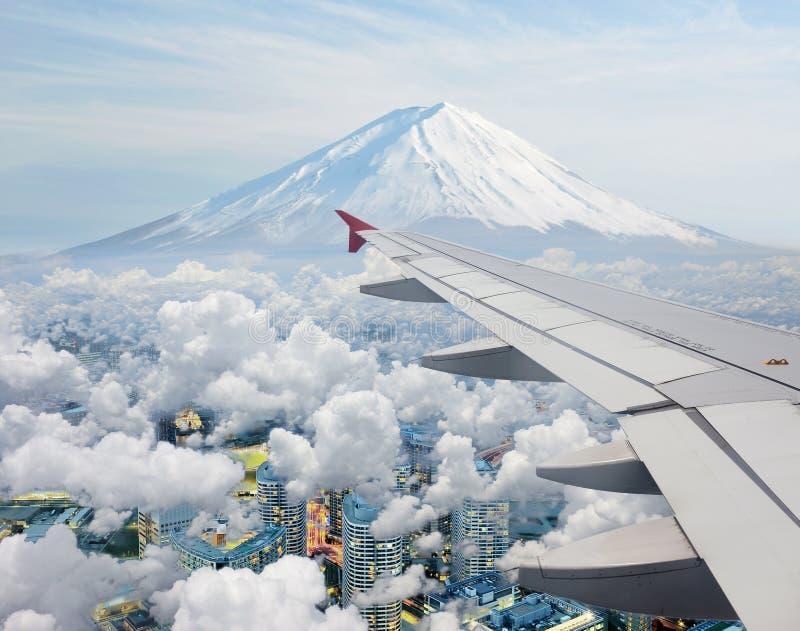 Vue surréaliste de Mt.Fuji images libres de droits