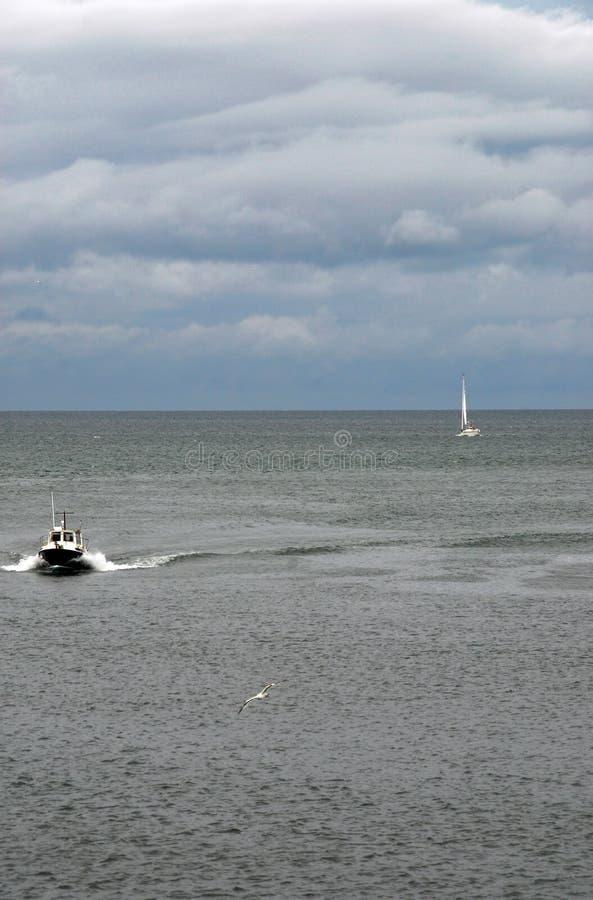 vue très gentille de port de la Bretagne images libres de droits