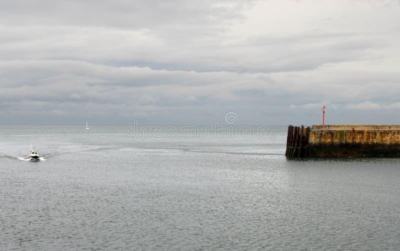 vue très gentille de port de la Bretagne photos libres de droits