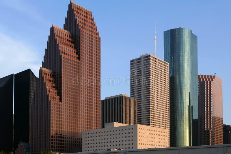 Vue urbaine de constructions du centre de gratte-ciel de ville photo stock