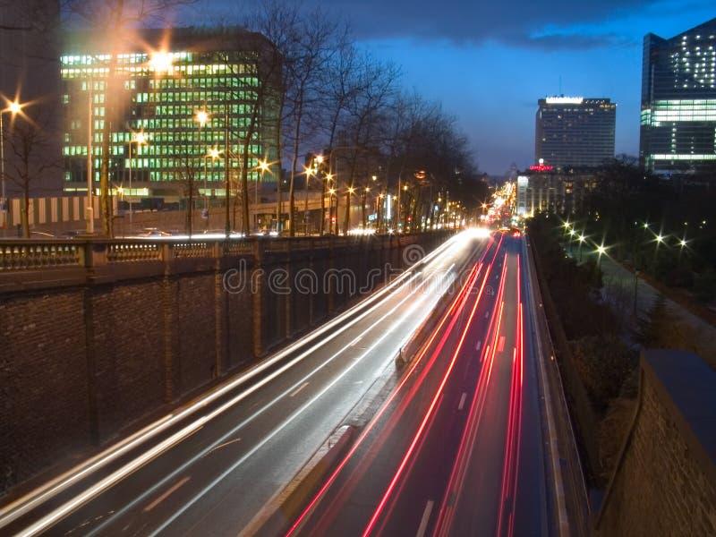 Vue urbaine de nuit images libres de droits