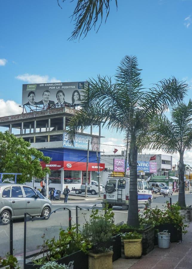 Vue urbaine de ville de Pando en Uruguay photos libres de droits
