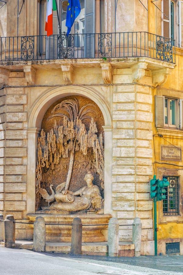 Vue urbaine et historique de beau paysage de Rome, urb images libres de droits