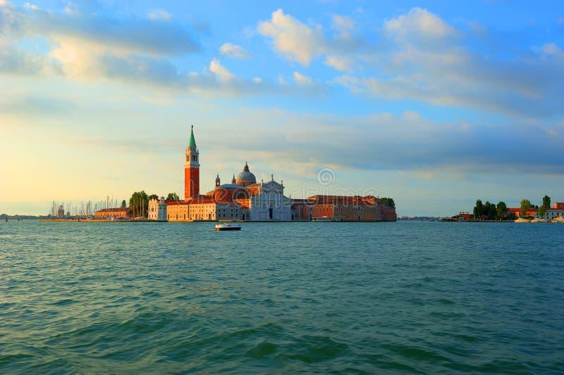 Vue vers l'île de San Giorgio Maggiore à Venise image stock