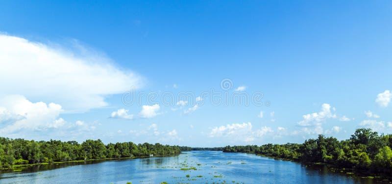 Vue vers la rivière Mississippi image stock