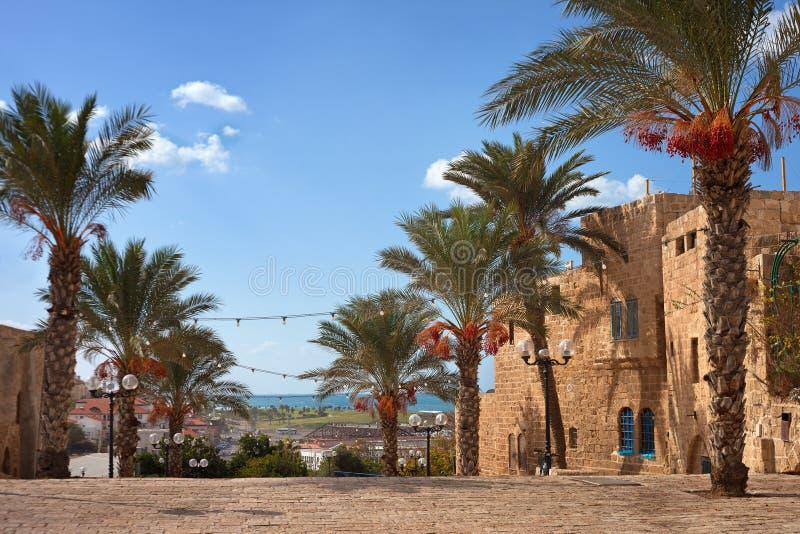 Vue vers le Jaffa images libres de droits