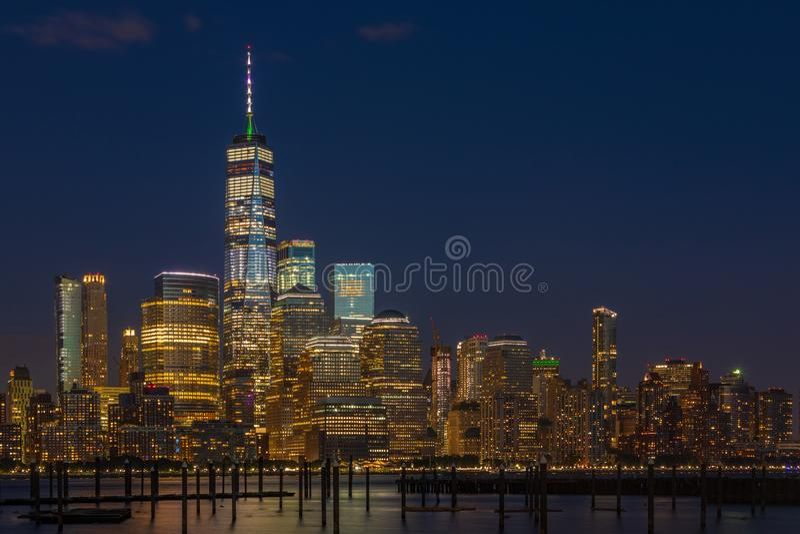 Vue vers Manhattan de New Jersey photos libres de droits